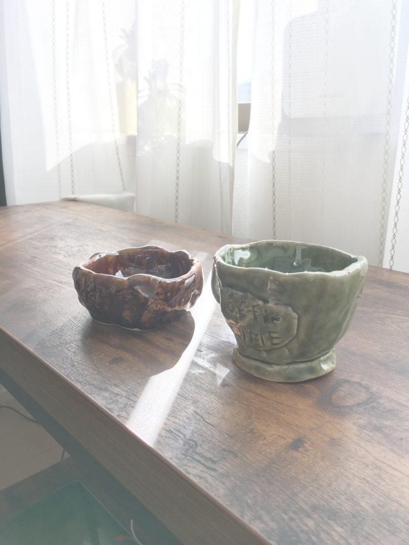 初の陶芸作品「マグカップとお茶碗になれなかった何か。」